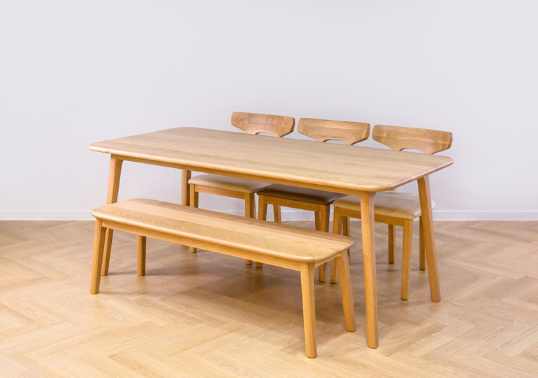 real oak table 6인 set