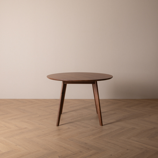 real walnut moon table