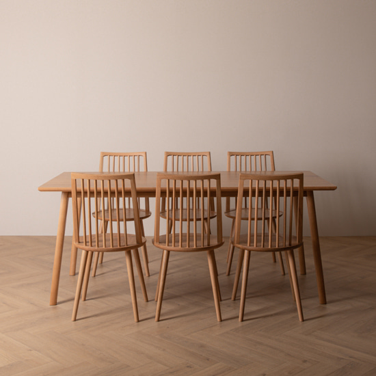 real oak table set